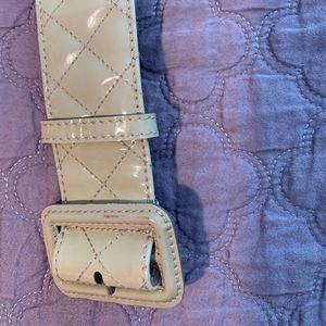 Burberry Patent Leather Quilted cream colour Belt
